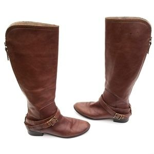Fossil Tall Riding Boots Luscious Leather Size 8.5